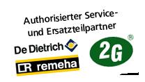 Autorisierter Service- und Ersatzteil-Partner von De Dietrich und Remeha